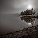 "Variation of ""Lake Ginninderra in Canberra/Australia on a foggy morning (5)"" by Wolf Sverak"