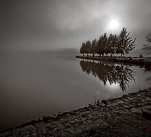 "Variation of ""Lake Ginninderra in Canberra/Australia on a foggy morning (5)"" by Wolf Sverak"