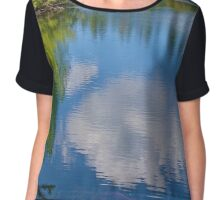 Gazing Down at Earth and Sky Chiffon Top