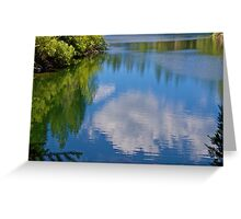 Gazing Down at Earth and Sky Greeting Card