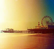 Santa Monica Pier Orange Sunrise by stine1