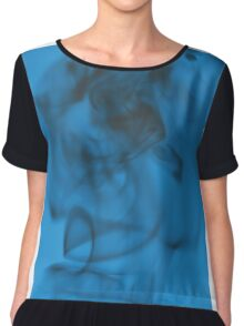Monochromatic Smoke Art 1 Chiffon Top