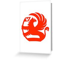 Vauxhall Emblem RED Greeting Card