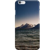 Mountains over lake iPhone Case/Skin