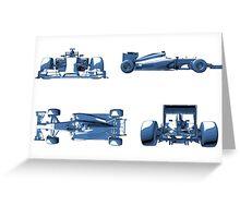 F1 Plan Design Greeting Card