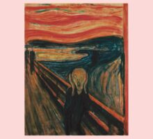 The Scream,reproduction,Edvard Munch, Impressionist One Piece - Short Sleeve