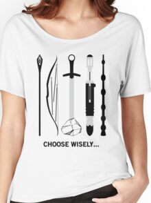 Choose Wisely! (Black Text) Women's Relaxed Fit T-Shirt