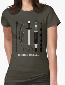 Choose Wisely! (White Text) Womens Fitted T-Shirt