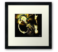 Liminal Light Creature [Digital Fantasy Figure Illustration]  Framed Print