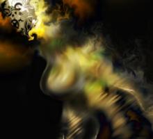 Liminal Light Creature [Digital Fantasy Figure Illustration]  Sticker