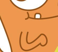 Char Man Derp Sticker