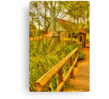 Rusty shed in the park Canvas Print