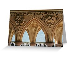 Cloister detail, Mont St Michel Greeting Card