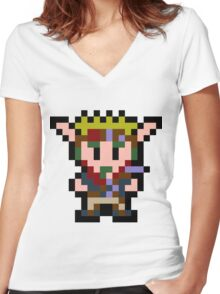 Pixel Jak Women's Fitted V-Neck T-Shirt