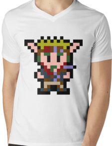 Pixel Jak Mens V-Neck T-Shirt