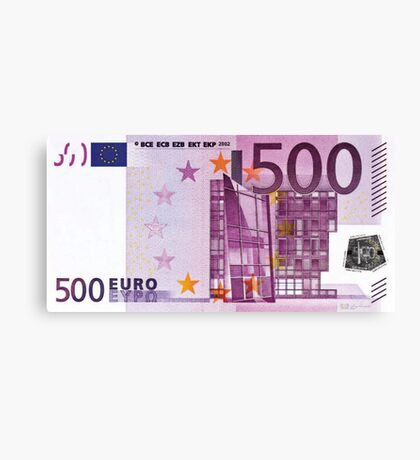 Five Hundred Euro Bill Canvas Print