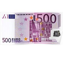 Five Hundred Euro Bill Poster