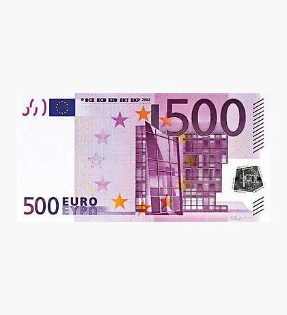 Five Hundred Euro Bill Photographic Print