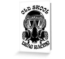 Old Skool Drag Racing Design Greeting Card