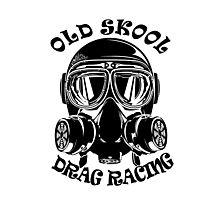 Old Skool Drag Racing Design Photographic Print