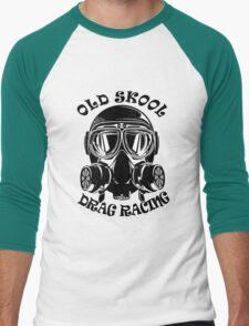 Old Skool Drag Racing Design Men's Baseball ¾ T-Shirt