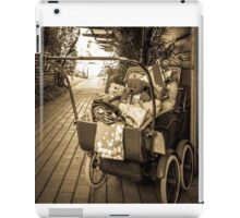 antique pram with teddies iPad Case/Skin
