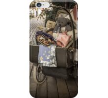 old world pram with teddies iPhone Case/Skin
