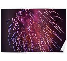 Funky Fireworks 4 Poster