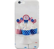 Independence day cupcakes iPhone Case/Skin