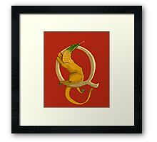 Q is for Quest Beast Framed Print