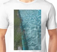 Aquamarine and Lavender - the Fragrant Edge of the Pool Unisex T-Shirt