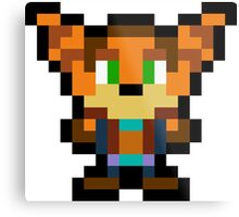 Pixel Ratchet Metal Print