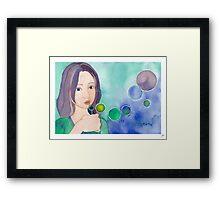 Bubbles Framed Print