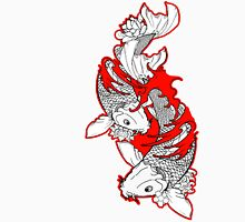 Koi Fish Design in red T-Shirt