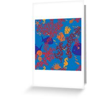 Little Fishes Patterned Products Greeting Card