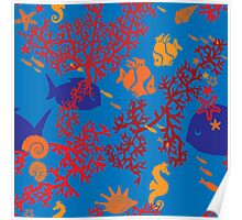 Little Fishes Patterned Products Poster