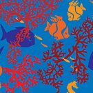 Little Fishes Patterned Products by Vickie Emms