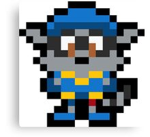 Pixel Sly Cooper Canvas Print