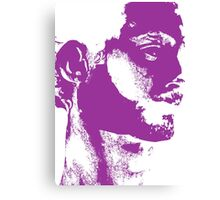 Rorschach Purple Canvas Print