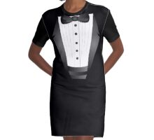 Groom wedding party bachelor party novelty Tuxedo  Graphic T-Shirt Dress