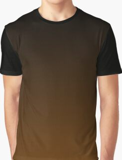 Black To Brown Gradient Graphic T-Shirt