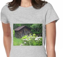 blooming old barn  Womens Fitted T-Shirt
