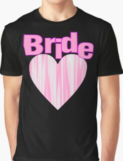 modern girly pink heart team bride bachelorette party Graphic T-Shirt