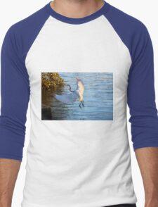 Great Egret, Urunga NSW Men's Baseball ¾ T-Shirt