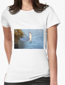 Great Egret, Urunga NSW Womens Fitted T-Shirt