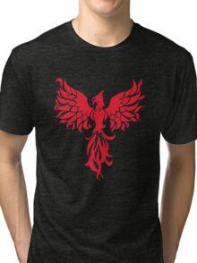 Abstract Red Phoenix Tri-blend T-Shirt