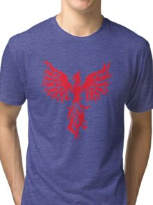 Abstract Red Phoenix Tri-blend T-Shirt