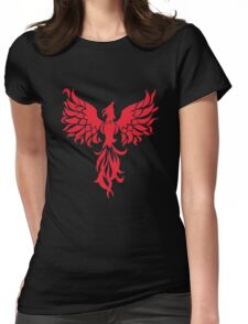 Abstract Red Phoenix Womens Fitted T-Shirt
