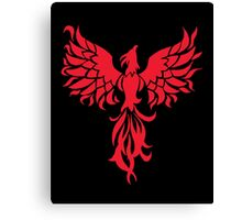 Abstract Red Phoenix Canvas Print