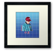 suho in blue Framed Print
